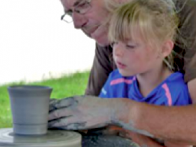 Pottery activity - Aubigny campsite