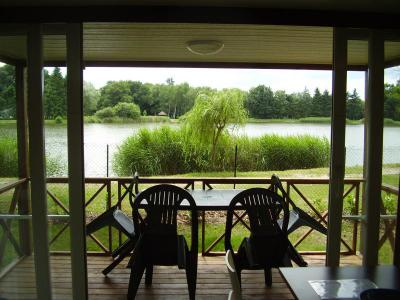 Chalet camping ponds aubigny has on Nere near Sancerre, Bourges, gien Lamotte Beuvron